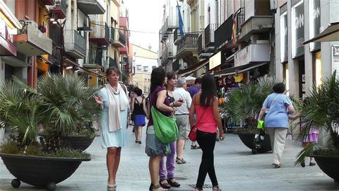 Palamos Street Costa Brava Catalonia Spain 25 Stock Video Footage