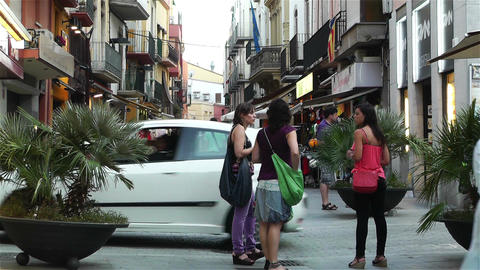 Palamos Street Costa Brava Catalonia Spain 25 Stock Video Footage