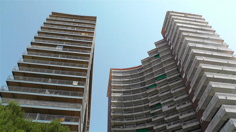 Tall Buildings lowangle 1 Stock Video Footage