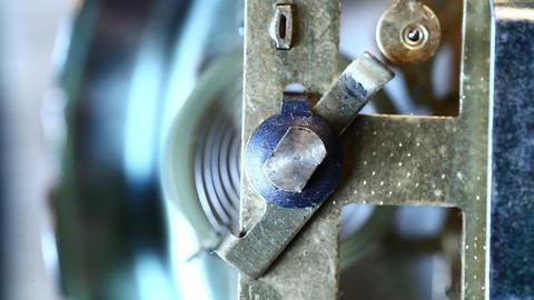 Clock mechanism Stock Video Footage