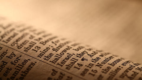 Holy Bible Stock Video Footage