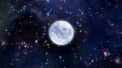 moon in the space Stock Video Footage