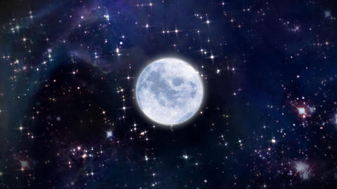 Moon In The Space stock footage