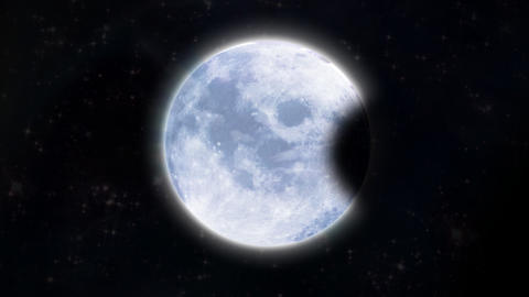 Moon of Total Lunar Eclipse Animation