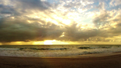 Time-lapse Sunrise on a Brazilian Beach with Sligh Stock Video Footage