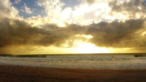 Time-lapse Sunrise on a Brazilian Beach with Sligh Stock Video Footage