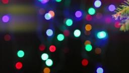 Christmas balls on the Christmas tree Stock Video Footage