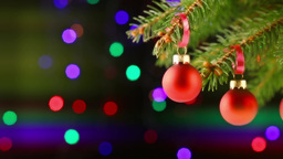 Christmas balls on the Christmas tree Stock Video Footage