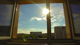 The sun shines through the open window Stock Video Footage