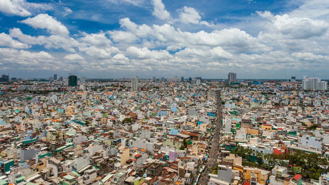 1080 - Ho Chi Minh City Cityscape - Timelapse Stock Video Footage
