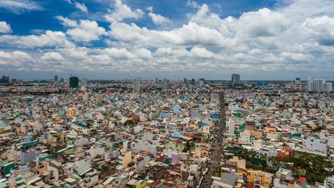 1080 - Ho Chi Minh City Cityscape - Timelapse Footage