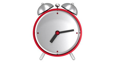 Red alarm clock Stock Video Footage