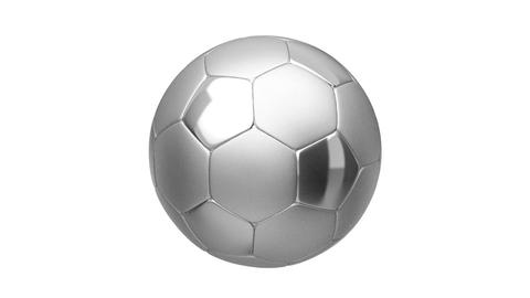 Silver soccer ball Stock Video Footage