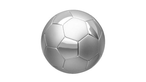 Silver soccer ball Animation