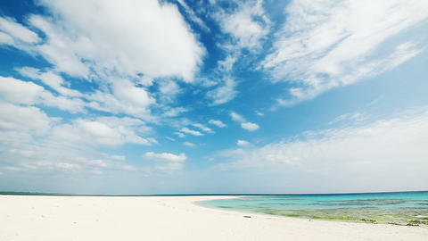 the tropical beach in Okinawa prefecture Stock Video Footage