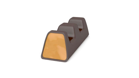 Dark chocolate filled with caramel Stock Video Footage