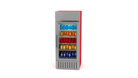 Market fridge Animation