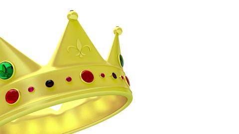 Golden crown Stock Video Footage