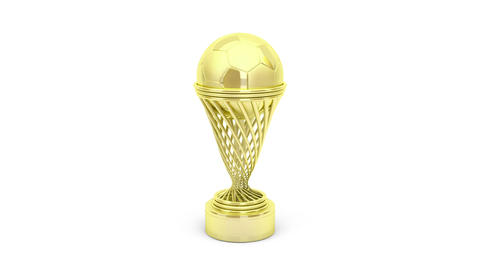Golden football trophy Animation