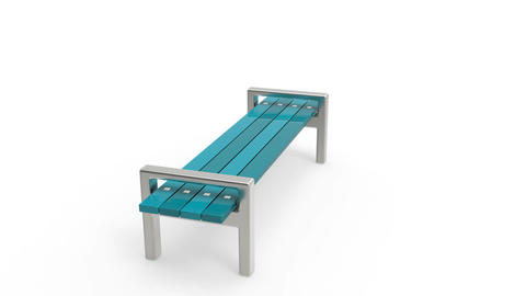Park bench Stock Video Footage