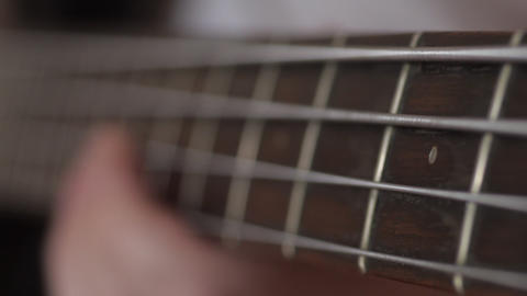 Bass Guitar Fretboard Stock Video Footage