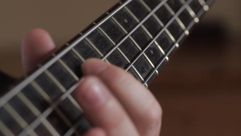 Musician Playing Bass Guitar stock footage