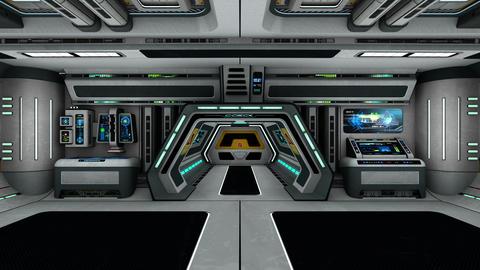 宇宙船内 Animation