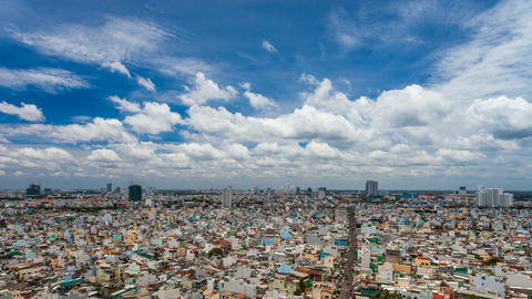 4k - CITY AERIAL VIEW - SAIGON Timelapse Footage