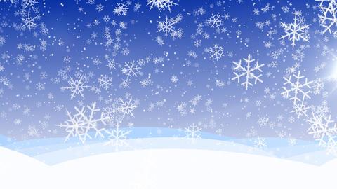 Winter snow fall HD, loop Stock Video Footage