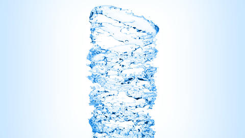 Water swirl flowing on blue background with alpha Stock Video Footage