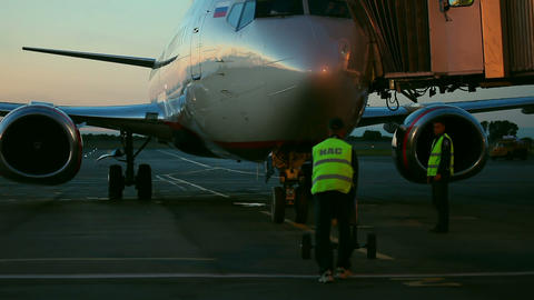 Flight preparations Stock Video Footage