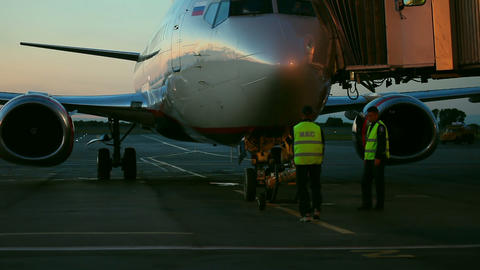 Flight preparations Footage