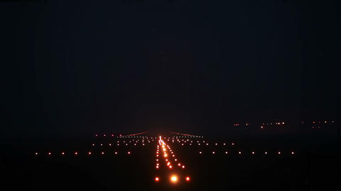 Landing lights Stock Video Footage