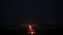 Landing lights Stock Video Footage