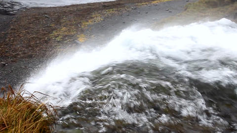 wind turning falls back Stock Video Footage