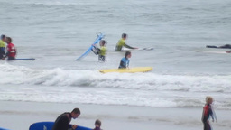 Surfing School Stock Video Footage
