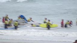 Surfing School Stock Video Footage