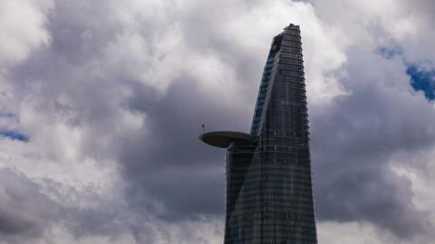 1080 - Skyscraper in Saigon - Cloudscape Stock Video Footage