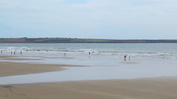 Tramore Beach Stock Video Footage