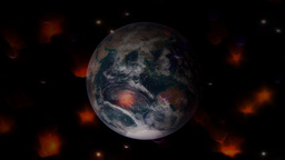 Animation Earth with auras or halo Stock Video Footage