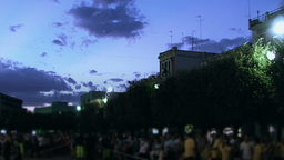 Crowd at night 2 Stock Video Footage