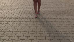 Feet slowly walking 1 Stock Video Footage