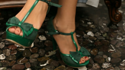 Green Shoes stock footage