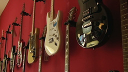 Guitar shop 2 Stock Video Footage