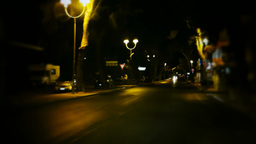 Timelapse streets at night - car lights Stock Video Footage
