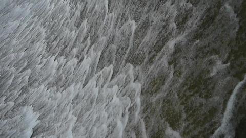 Torrential waterfall & spray Stock Video Footage
