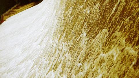 Torrential waterfall & mud sand Stock Video Footage