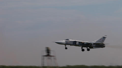 Military bomber SU - 24 Stock Video Footage