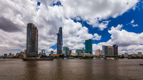 4K - CITY SKYLINE - Ho CHi Minh City, VIETNAM Time Stock Video Footage