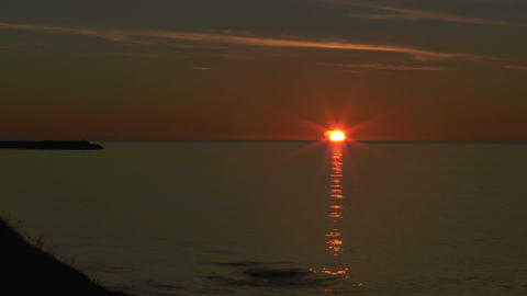 sunsetnicelandtimel Stock Video Footage
